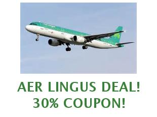 Promotional codes and coupons Aer Lingus save up to 15%