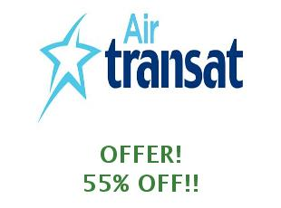 Discounts Air Transat save up to 10%