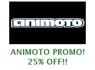 Discounts Animoto save up to 20%