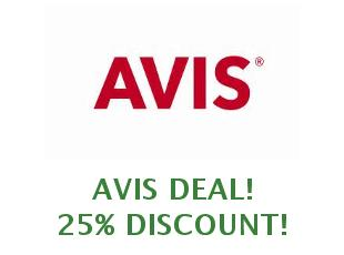 Promotional code Avis save up to 25%