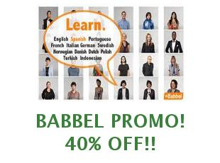 Promotional codes Babbel