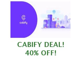 Discount coupon Cabify 6 euros off | August 2019