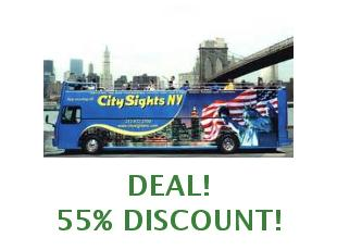 Promotional codes CitySights NY 15% off