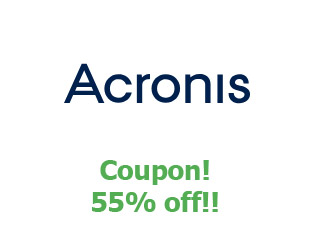 Discount coupon Acronis 55% off