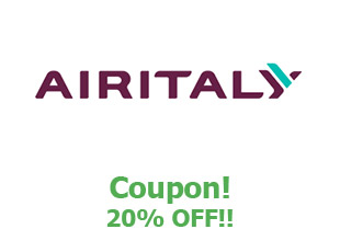 Promotional code Air Italy save up to 20%