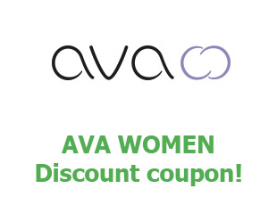 Promotional codes and coupons Ava women save up to 20$
