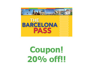 Discount coupon Barcelona Pass 6% off