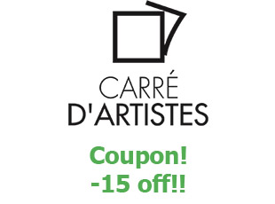 Discount code Carré d'artistes save up to 20$
