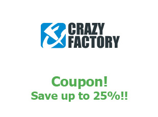 Discounts Crazy Factory save up to 30%