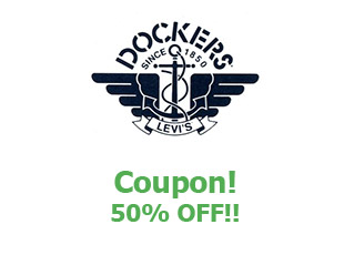 Coupons Dockers 50% off