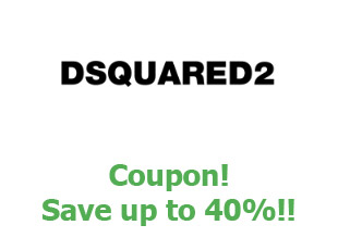 Discount code Dsquared2 save up to 40%
