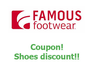 Discount code Famous Footwear up to -20%