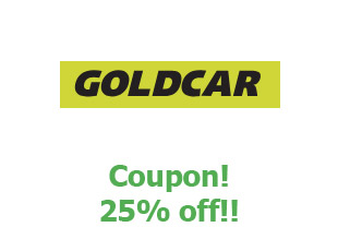 Coupons Goldcar save up to 25%