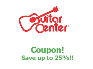 Discounts Guitar Center save up to 25%