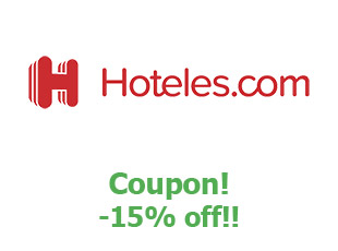 Coupons Hotels.com 15%