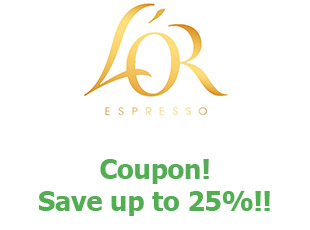 Discount code L'OR Espresso save up to 25%