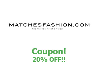 Promotional code MatchesFashion save up to 20%