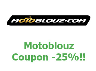 Promotional codes and coupons Motoblouz save up to 15%