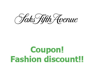 Promotional code Saks Fifth Avenue up to 50%
