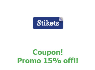 Promotional code Stikets save up to 10%
