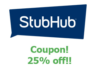 Promotional offers and codes StubHub save up to 20$