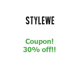 Promotional offers and codes StyleWe 30% off