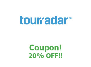 Promotional offers Tour Radar save up to 50%