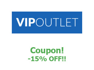Discount coupon VIP Outlet save up to 15%
