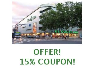 Discount coupon El Corte Inglés save up to 25%