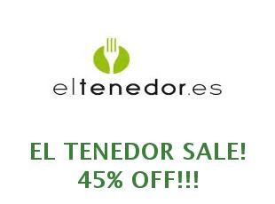 Promotional codes El Tenedor save up to 10 euros