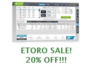 Promotional codes and coupons eToro save up to 30%