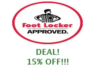 Discount coupon Foot Locker 15% off