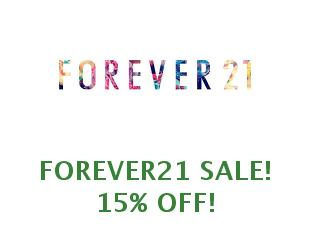 Discounts Forever21 save up to 21%