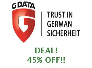 Discount code G Data Software save up to 10%