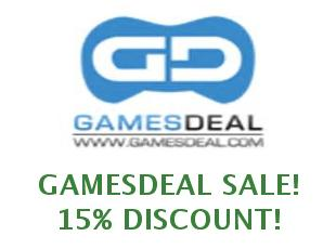 Coupons GamesDeal save up to 15%