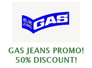 Promotional codes and coupons Gas Jeans save up to 30%