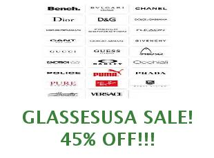 Coupons GlassesUSA 50% off