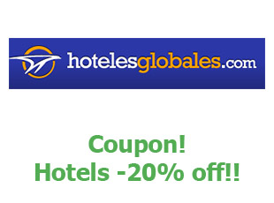 Promotional codes and coupons Hoteles Globales save up to 20%