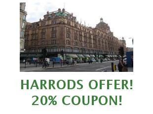 Promotional codes and coupons Harrods save up to 20%