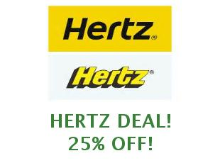 Discount coupon Hertz save up to 20%