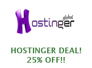 Discount coupon Hostinger save up to 20%