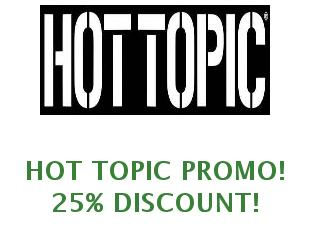 Discount coupon Hot Topic 20% off
