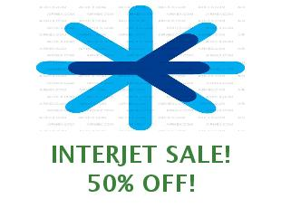 Promotional codes and coupons Interjet save up to 20%