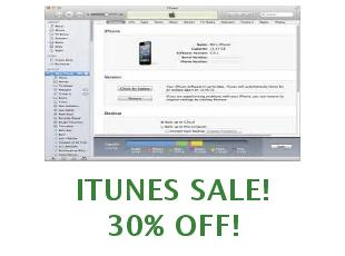 Discounts iTunes save up to 25%