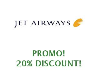 Promotional offers and codes Jet Airways save up to 25%
