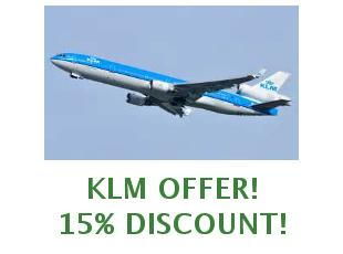 Discounts KLM save up to 150 euros