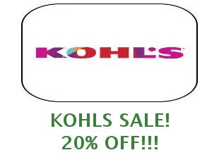Promotional offers and codes Kohls save up to 20%