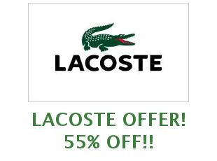 Promotional offers and codes Lacoste save up to 20%