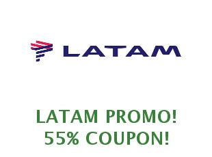 Promotional codes and coupons Latam save up to 20%