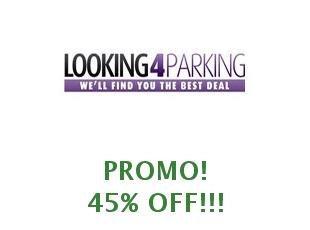 Promotional code Looking4Parking save up to 25%